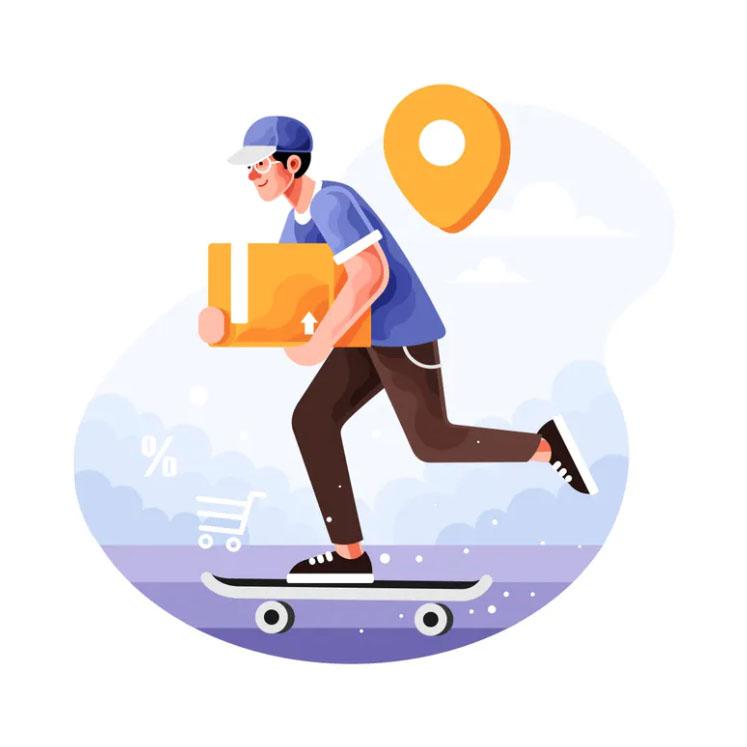 Kuriér na skateboarde - BOZP-skolenia.sk